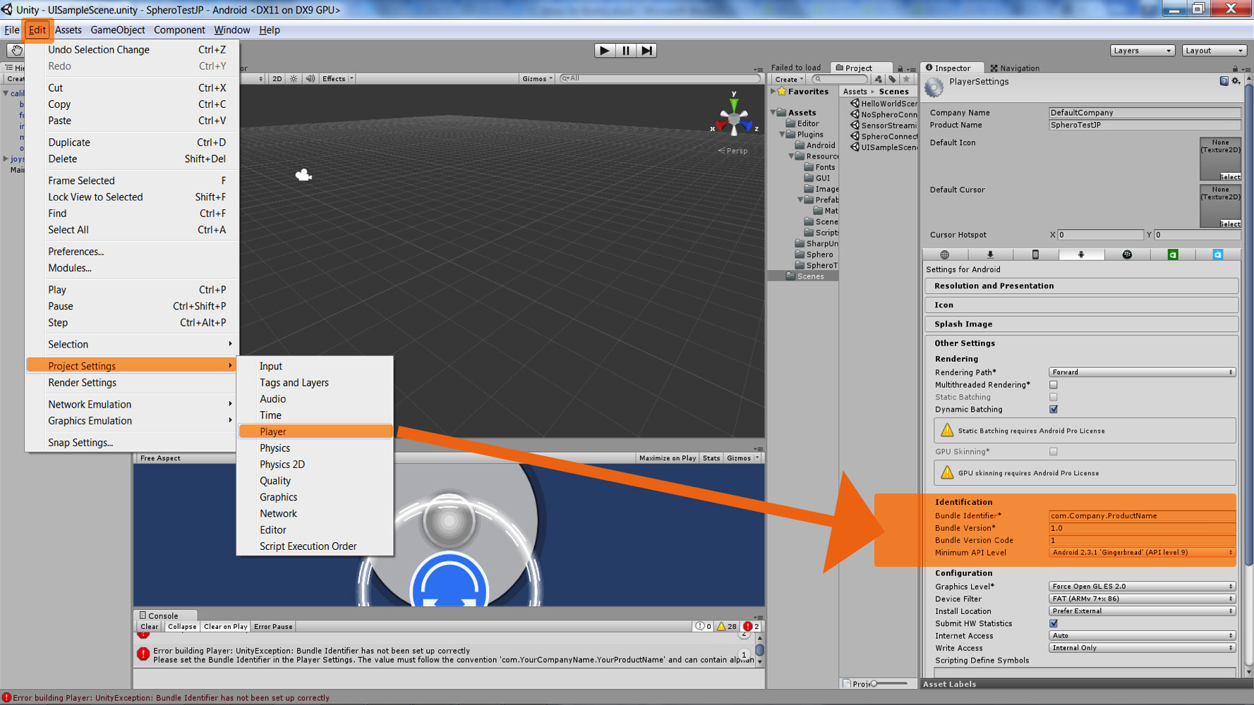 Install a development environment Unity/Android/SDK(Robot