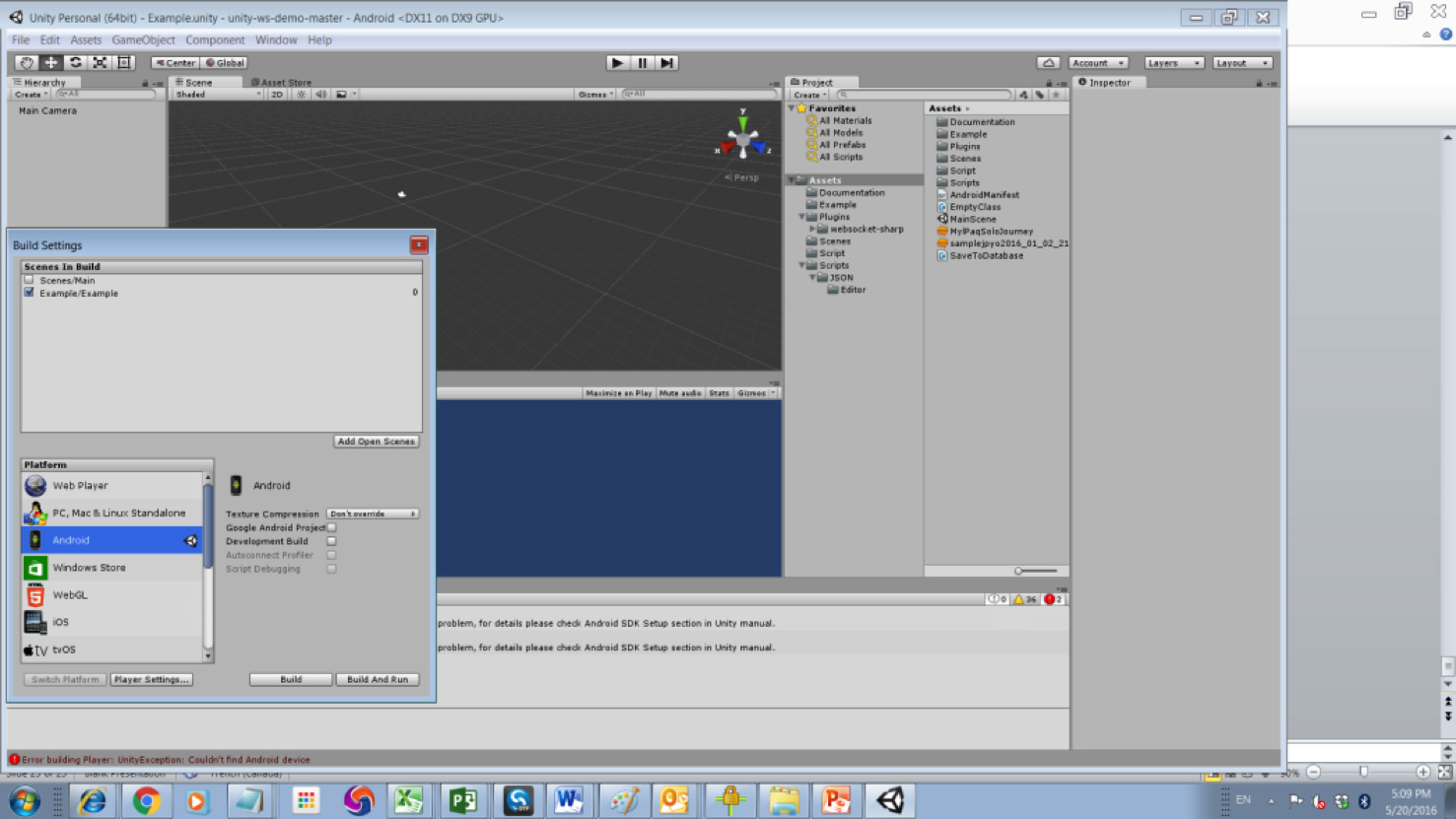 Install a development environment Unity/Android/SDK(Robot) for